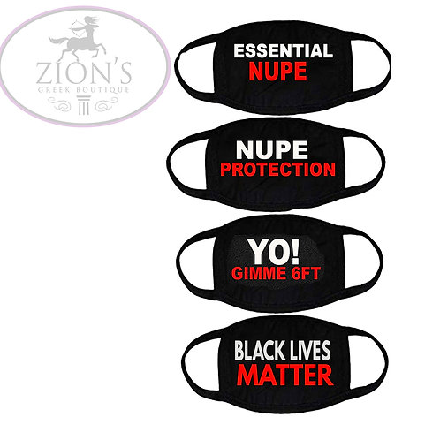 NUPE THEMED MASK COLLECTION