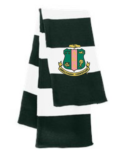 Crest Striped Knit Scarf