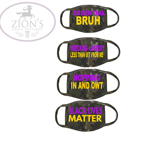 BRUHZ THEMED MASK COLLECTION