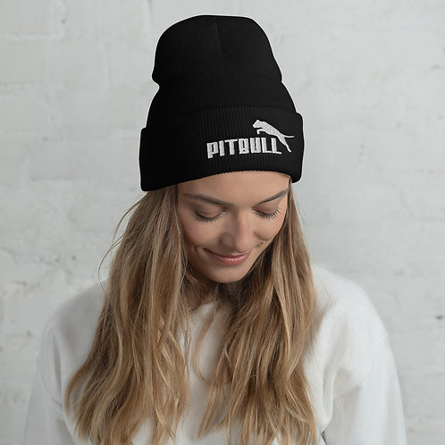 """Pitbull"" Embroidered Beanie"