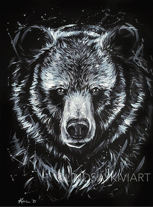 """Grizzly"" Fine Art Print"