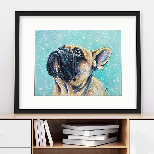 French Bulldog - 8x10 Original Watercolor **Unframed