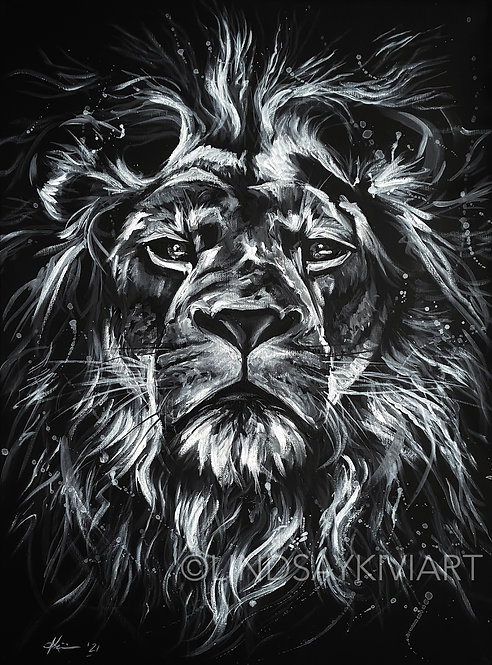 """""""King"""" 18x24 Acrylic on Canvas **FLOATER FRAME INCLUDED"""