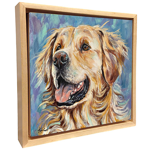 Acrylic Pet Portrait on Gallery Wrapped Canvas **FLOATER FRAME INCLUDED