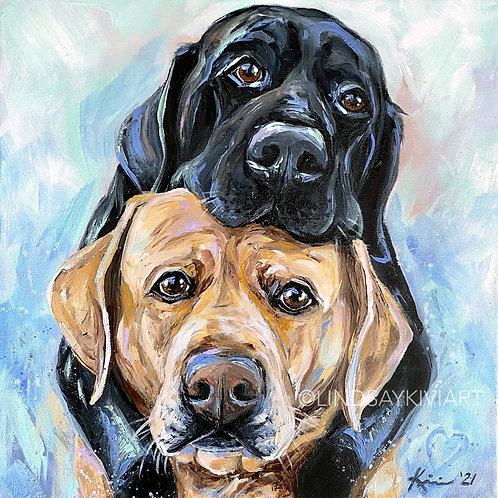 """""""Puppy Love"""" Fine Art Print"""