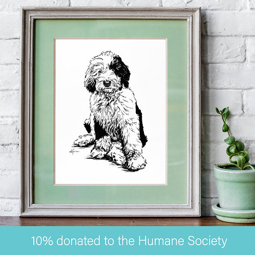 Custom Ink Drawing on Archival, 100% Cotton Paper **FRAME NOT INCLUDED