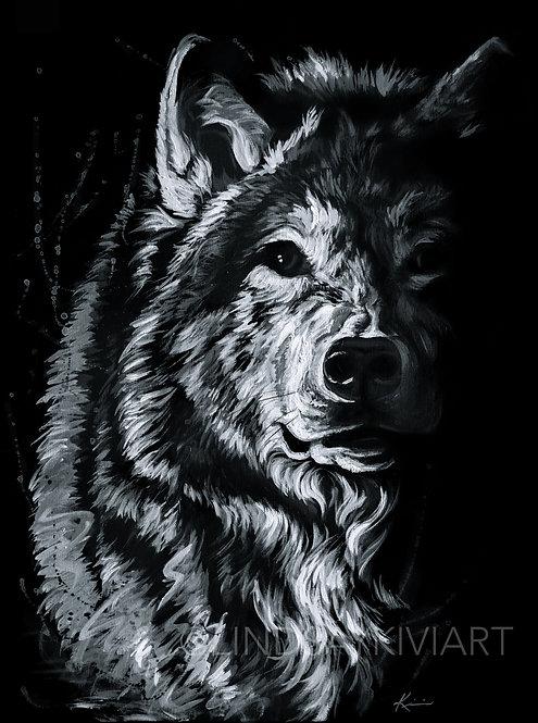 """Shadow Wolf"" Fine Art Print"