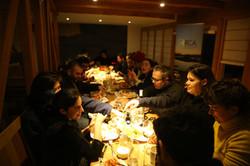Cena en Errante Ecolodge