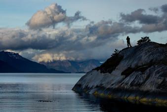 Siluenta en Fiodo Parry - Tierra del Fuego