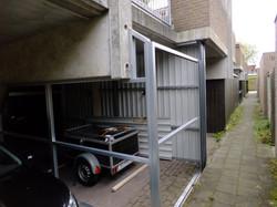 Garagebox in aanbouw