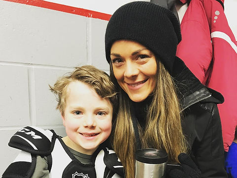 Mortarr Founder Abby Murray at her son's hockey game