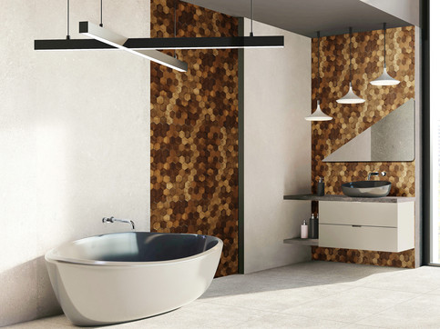 Forest Elements Wood Mosaic Wall Tiles