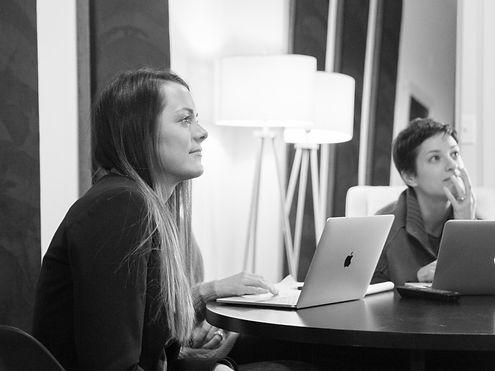 Mortarr Founder | Abby Murray attending a meeting