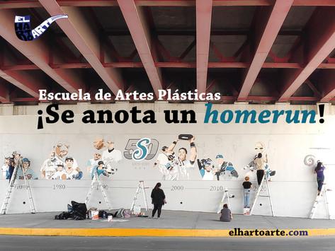 ¡Escuela de Artes Plásticas se anota un 'homerun'!: Murales de Saraperos