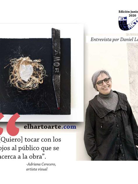 'Tocar con los ojos': el arte de Adriana Cerecero
