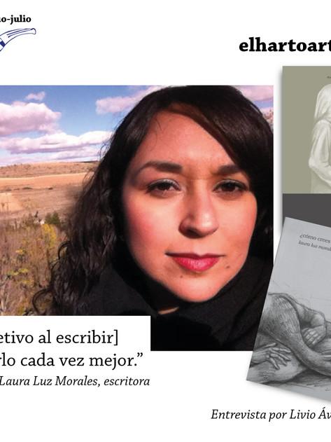 'Mi objetivo al escribir es hacerlo cada vez mejor': Laura Luz Morales