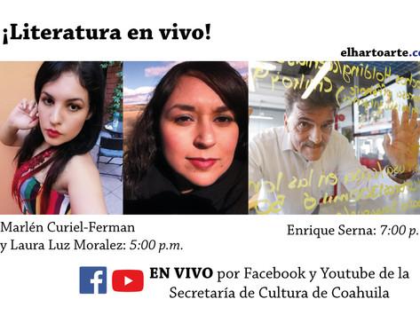 Domingo de literatura online: escritoras saltillenses y Enrique Serna