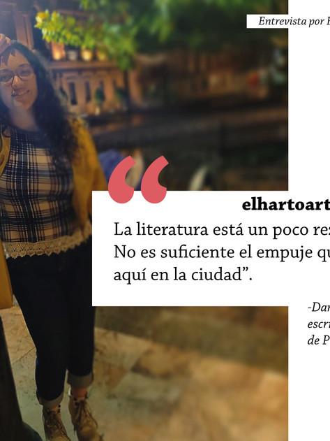 'La literatura está un poco rezagada en la ciudad': Daniela González