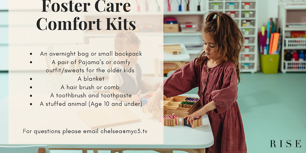 Foster Care Comfort Kits Project