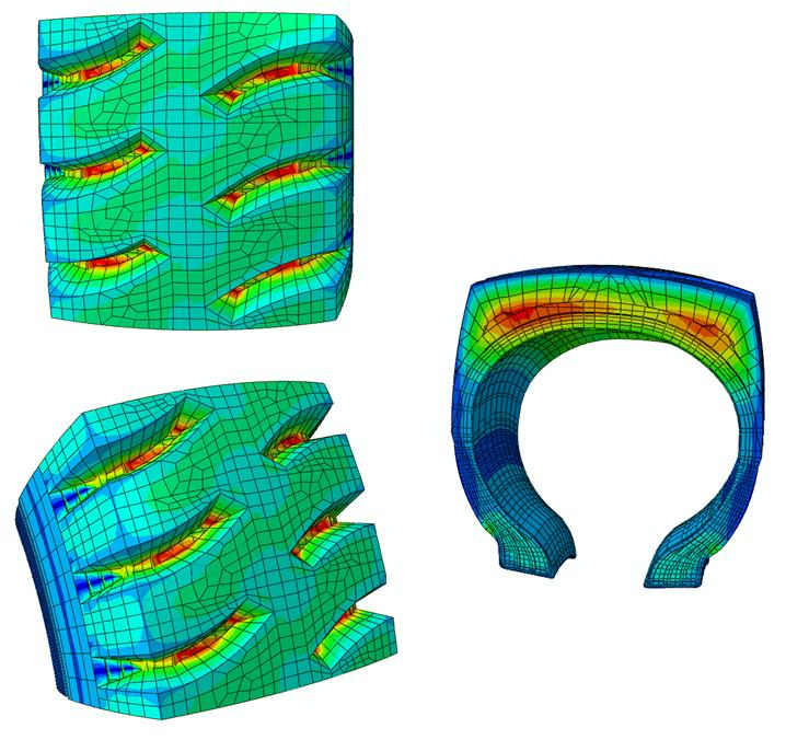 Temperature Distribution in 3D Tyre