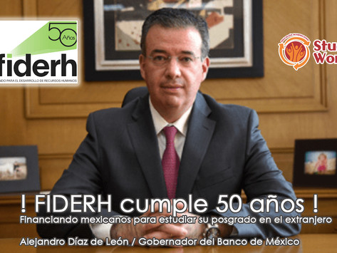 !FIDERH cumple 50 años y lo festeja aumentando monto de financiamiento  4a. Convocatoria !