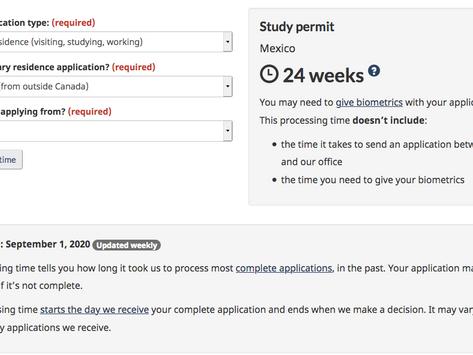 ! Hay que aplicar ya...!    Canadá calcula 6 meses para procesar un Permiso de Estudios...