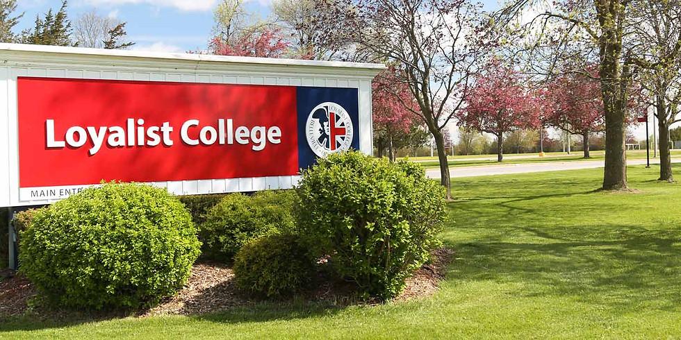 12:00 P.M. / Loyalist College...es la opción.
