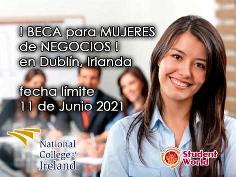 ! BECA para mujeres de Negocios en Dublín, Irlanda !
