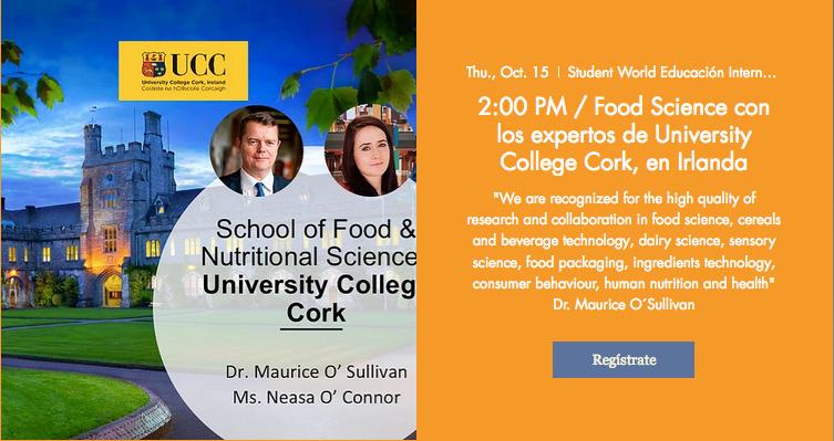 Webinar Food Science UCC