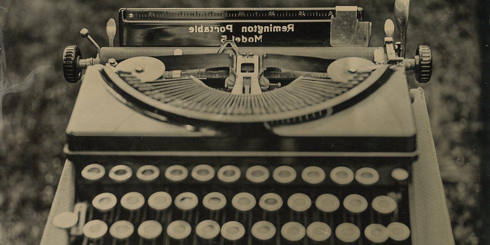 Tintype Remington Typewriter