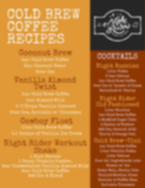 Night Rider Cold Brew Coffee Recipes