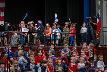 Performers during Veterans Day assembly