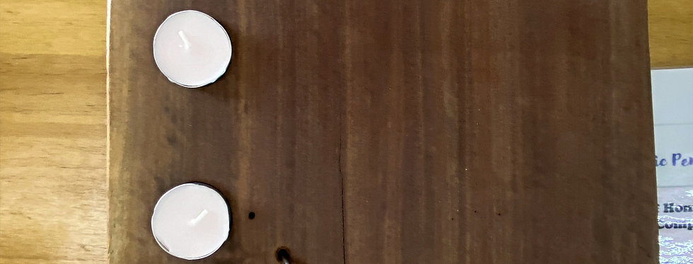 Marvellous Medium Candle Lit Timber Platter