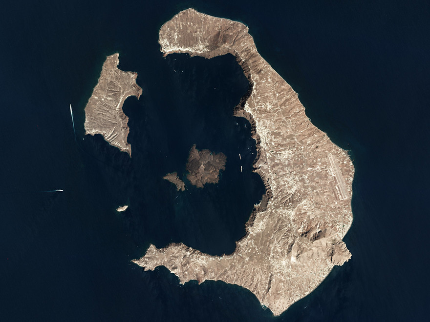Santorini from Space
