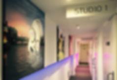 Studio entrance & corridor