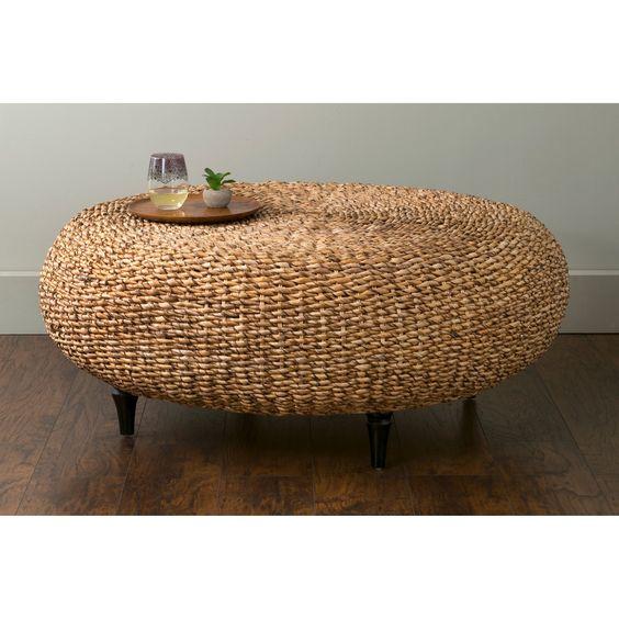 Mod de mesa en mimbre natural