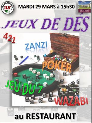 """Après-midi """"Jeux de dés"""", Cholet, 2016"""