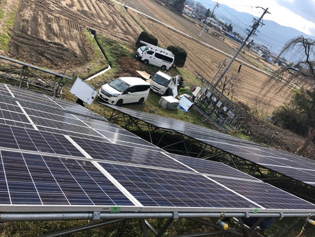 2020.12.12 松本市 太陽光発電パネル交換工事