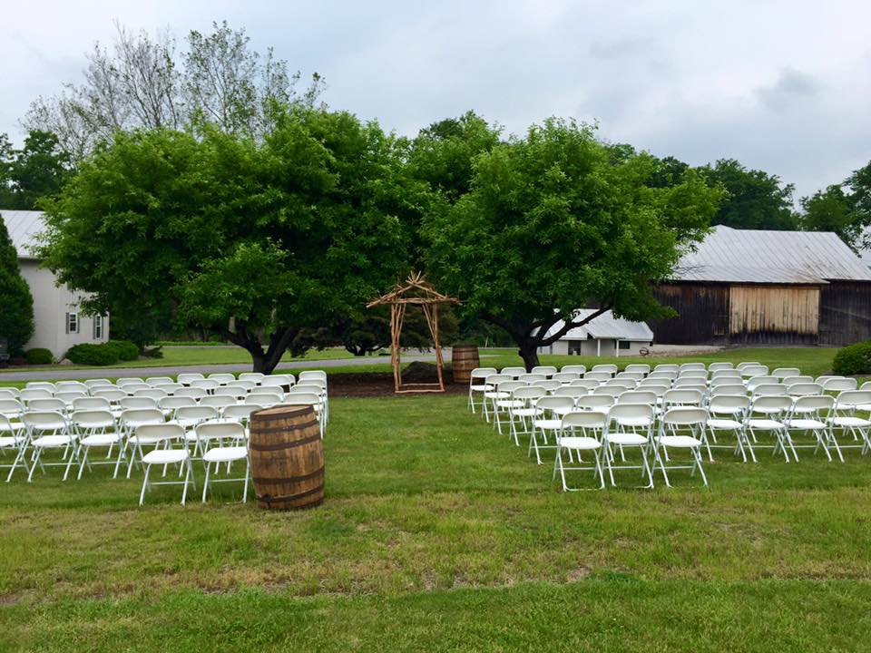 ceremony by the apple trees
