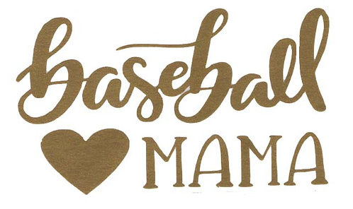 Baseball Mama GOLD VINYL DECAL
