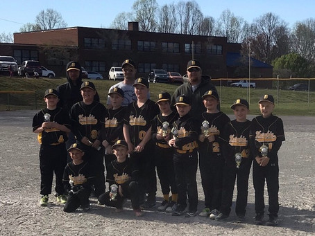 Boonville Gold Minors take 2nd Place!