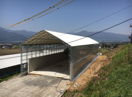2018年4月30日施工完了/堆肥舎/長野県伊那市