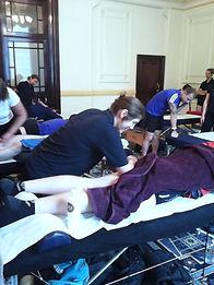 sports massage hook
