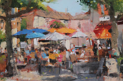 Cafe Umbrellas, Provence