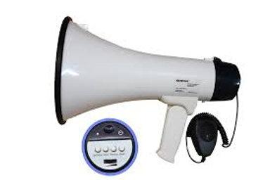 MEGAFONE SOUNDVOICE 1503X 15W COM SIRENE E GRAVAÇÃO