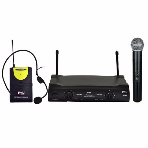 MICROFONE SEM FIO UHF JWL U-585 HEADSET/MÃO