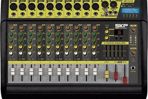 MESA DE SOM AMPLIFICADA SKP 10 CANAIS VZ-100II USB 200