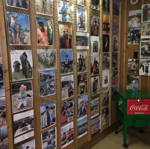 Amon Carter Lake Wall of Fame.  Get on here!