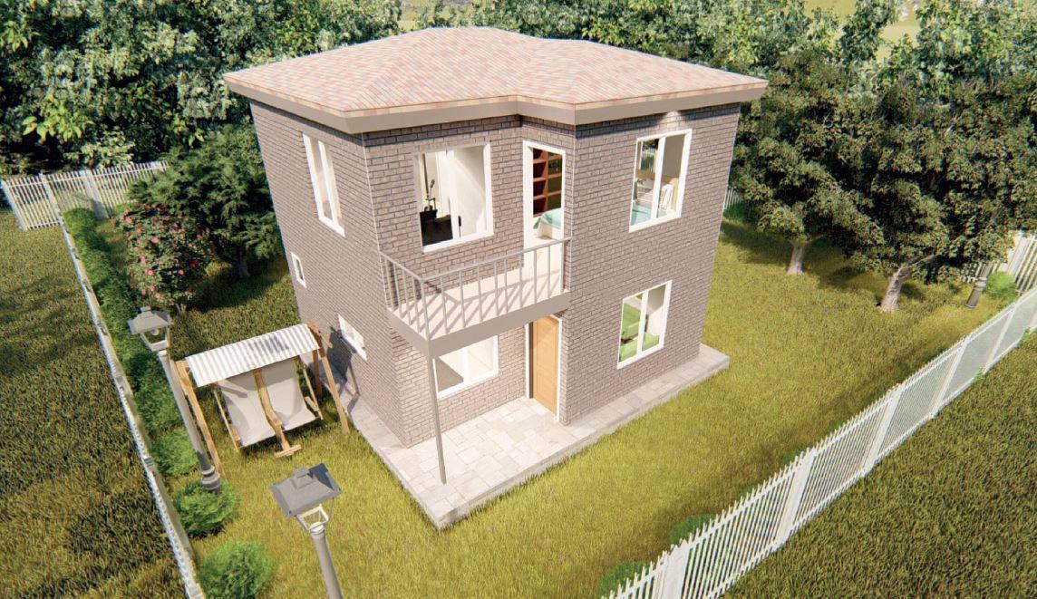 40+40 m2=80 m2 Basic-Line Dublex