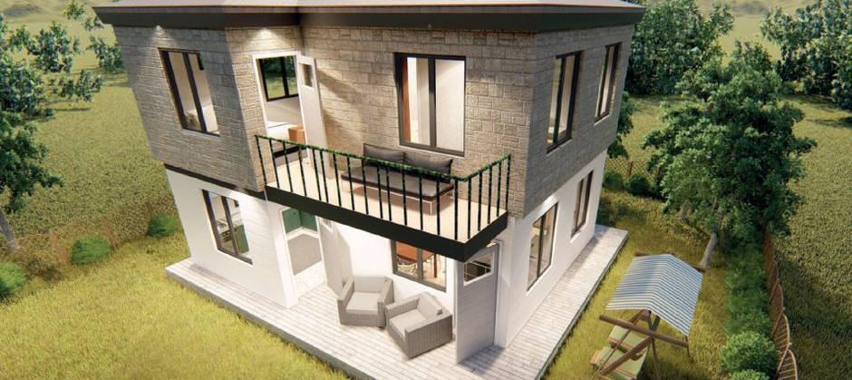 52 + 52 m2 = 104 m2 Art-Line Dublex